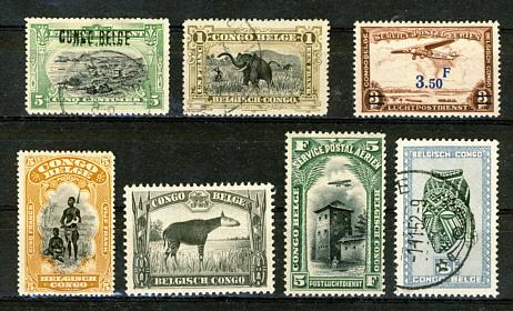 Briefmarken Belgisch Kongo
