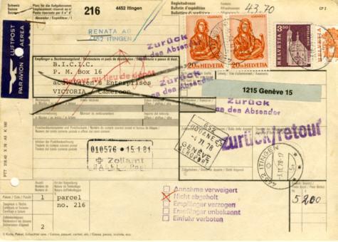 Halbierung Thomas Humorvoll Briefmarken Brief Halbiert St