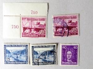 Briefmarkenfunde von Briefmarkensteckkarte