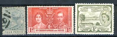 Briefmarken Sankt Kitts Nevis Christopher Anguilla