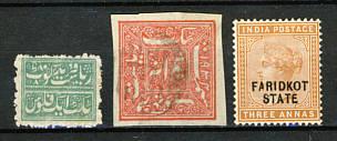 Briefmarken Faridkot
