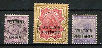 Briefmarken Indien Gwalior