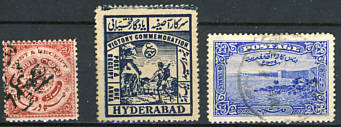 Briefmarken Indien Hyderabad