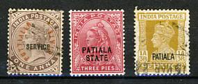 Briefmarken Indien Patiala