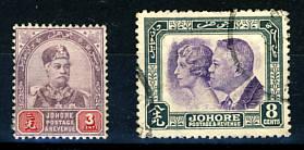 Briefmarken Malaysia Johore