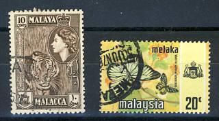 Briefmarken Malaysia Malacca