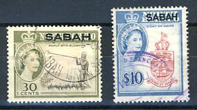 Briefmarken Malaysia Sabah
