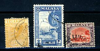 Briefmarken Malaysia Selangor