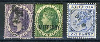 Briefmarken Sankt Lucia