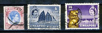 Briefmarken Singapur