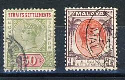 Briefmarken Straits  Settlements