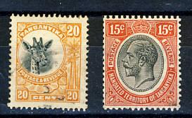 Briefmarken Tanganjika