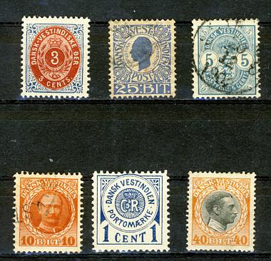 Briefmarken Dänisch Westindien