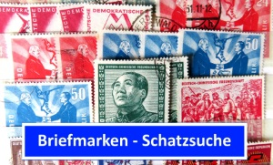 Briefmarkenfunde in Briefmarkensammlung DDR und BRD