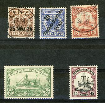 Briefmarken Deutsch-Ostafrika