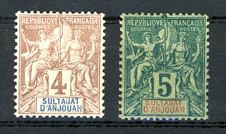Briefmarken Anjouan
