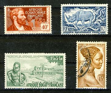Briefmarken Französisch Äquatorialafrika