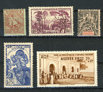 Briefmarken Französisch Guinea