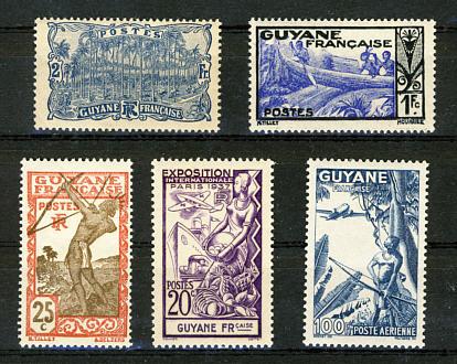 Briefmarken Französisch Guyana