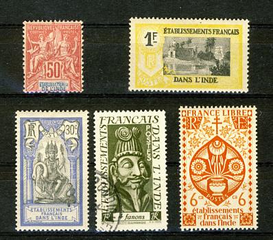 Briefmarken Französisch Indien