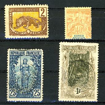 Briefmarken Französisch Kongo