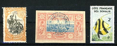 Briefmarken Französisch Somaliküste