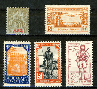 Briefmarken Französisch Sudan