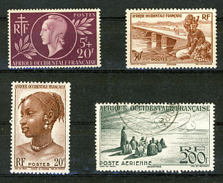 Briefmarken Französisch Westafrika