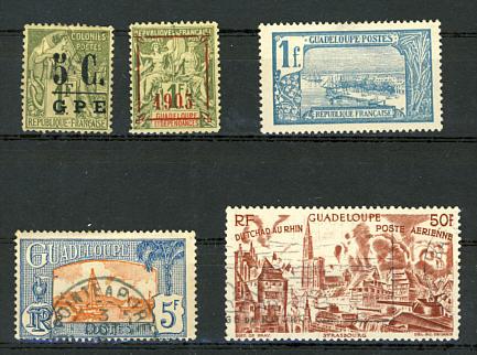 Briefmarken Guadeloupe