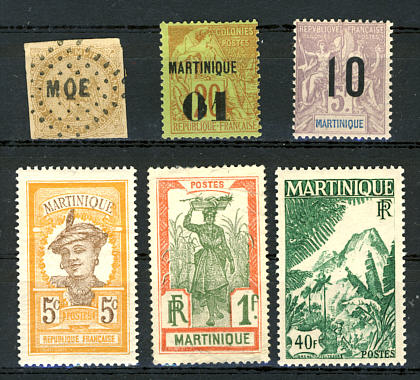 Briefmarken Martinique