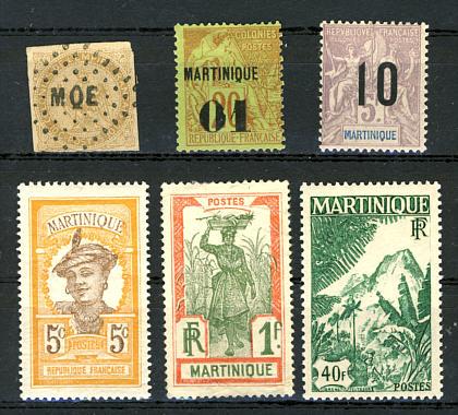 Briefmarken Martinique