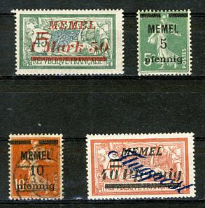 Briefmarken Memelgebiet