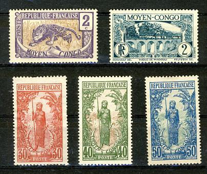 Briefmarken Mittelkongo