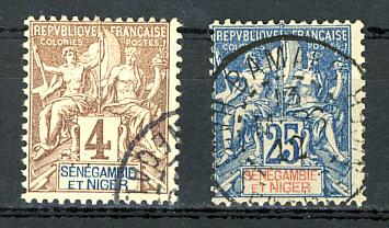 Briefmarken Senegambien und Niger