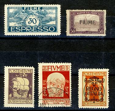 Briefmarken Fiume