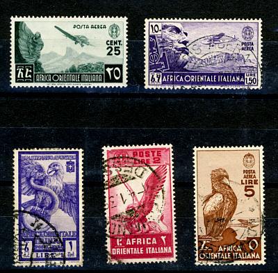 Briefmarken Italienisch Ostafrika