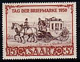 Briefmarke vom Saarland