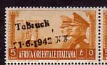Italienischer Kolonialmarke zur Zeit des 2. Weltkrieges in Afrika