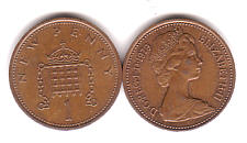 Values of British One Penny Copper Coins with Queen