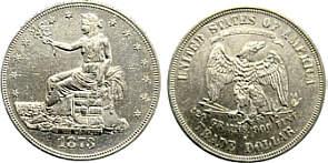 Values of US Trade Dollars 1873 - 1878