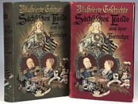 Alte Bücher: Illustrierte Geschichte der Sächsischen Lande