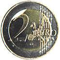Fälschung von Zainende bei 2 Euro - Münze
