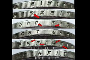 Fehlprägungen Abarten Und Varianten Der Euro Münzen Brd Euro Münzen