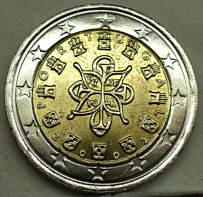 2 Euro Münzen Wert Portugal 2002 Ausreise Info