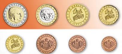 Monaco Euro Münzen