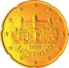 20 Cent Münze der Slowakei