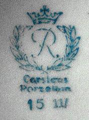 Porzellan von Reichenbacher Porzellanfabrik C. & E. Carstens