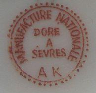 Porzellan von Manufacture Nationale de Sèvres