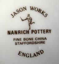 Porzellan von Nanrich Pottery, Staffordshire