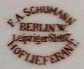 Porzellan von Friedrich Adolph Schumann und Sohn